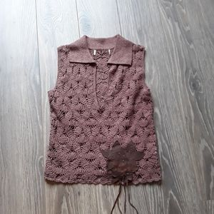 Tops - Clearance!!! Brown knitwear top/vest